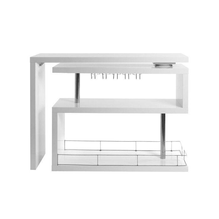 Miliboo - Bar design laqué blanc amovible MAX