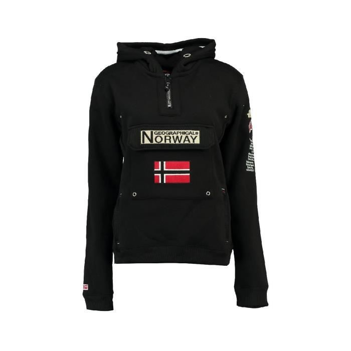 Sweat Femme Geographical Norway Gymclass DB007 Noir