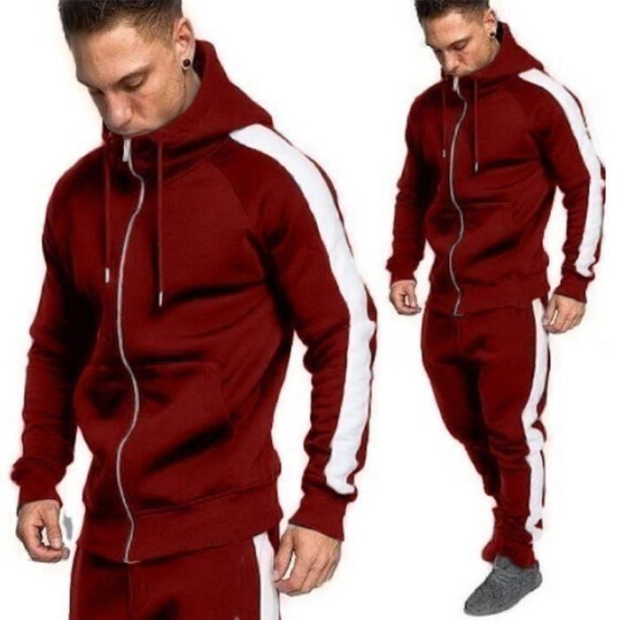 Hommes Automne Hiver Zipper Imprimer Sweat Top Pantalons Ensembles Survêtement Sport Suit ZHS81206728RDL2_oaw