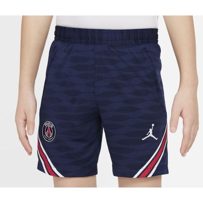 Short Entraînement Jordan x PSG Strike Bleu Junior 100 % Polyester