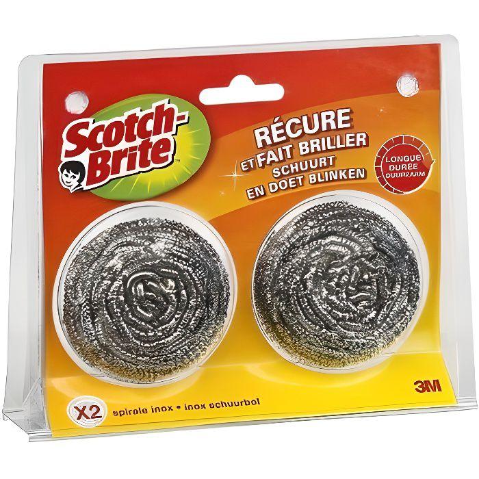 SCOTCH BRITE Spirale inox x2