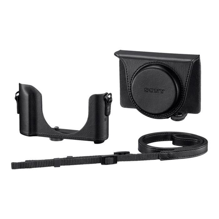 Sony LCJ-HWA Étui appareil photo polyuréthane noir pour Cyber-shot DSC-HX80, DSC-HX90, DSC-HX90V, DSC-WX500