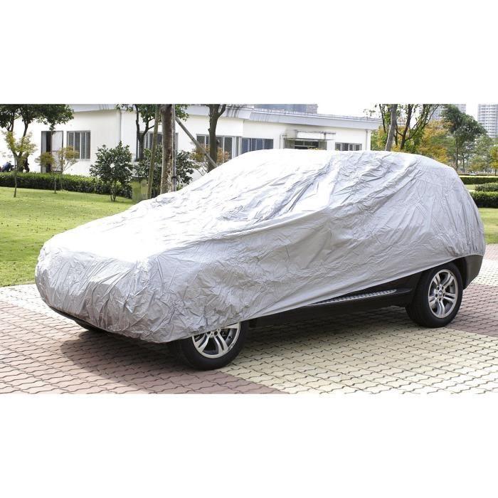 TURBOCAR Bâche Auto en Peva Taille L 470x170x120 cm