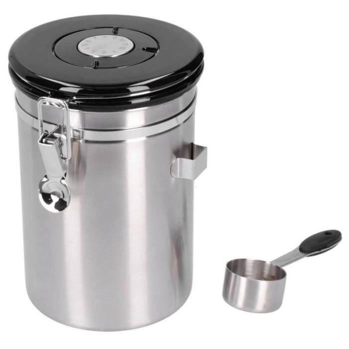 GA23673 bidon Récipient à grains de café avec soupape d'échappement Boîte de stockage de feuilles de thé pour une utilisation
