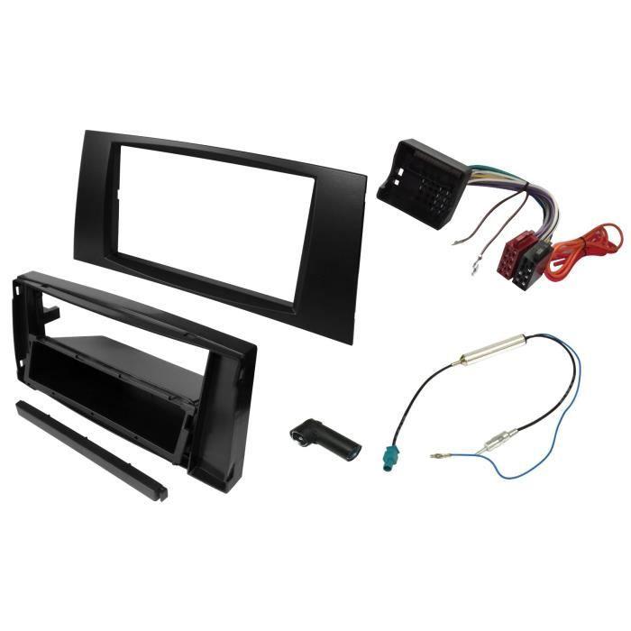 Adaptateur Fa/çade Cadre R/éducteur Kit 2DIN Moulage Cache en Plastique pour remplacer Changer Monter autoradio dorigine par Un Radio Standard de Voiture Auto AERZETIX