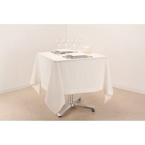 Nappe carr e l 150 cm ivoire achat vente nappe de for Table carree 150 x 150
