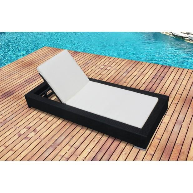 magnifique bain de soleil en r sine tress e avec matelas. Black Bedroom Furniture Sets. Home Design Ideas