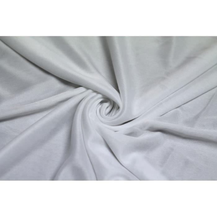 TISSU Tissu Banlon Blanc -Coupon de 3 mètres