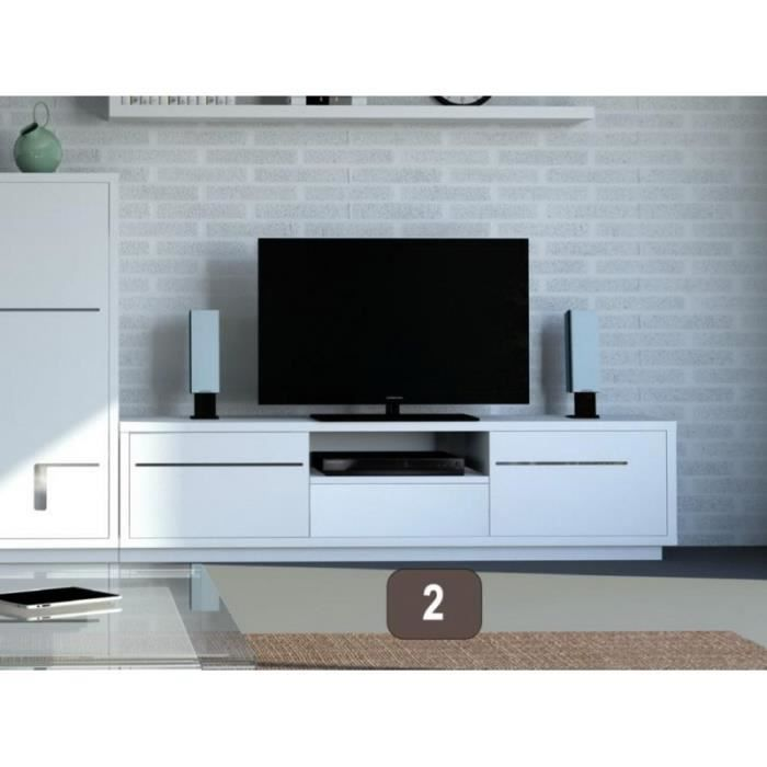 meuble tv blanc 150 cm. Black Bedroom Furniture Sets. Home Design Ideas