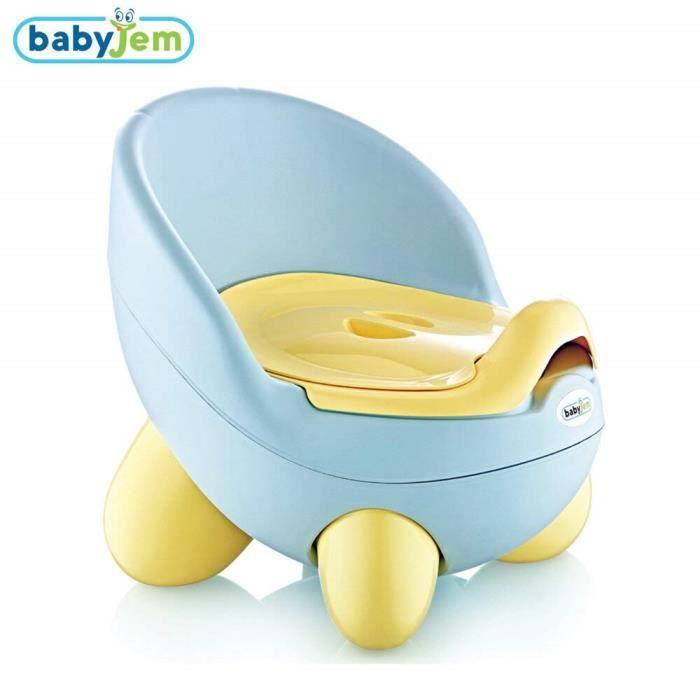 Babyjem Bleu B/éb/é Tontons Pot amovible et portable sain et sans BPA toilette enfant pour lapprentissage de la propret/é confortable et s/écuritaire