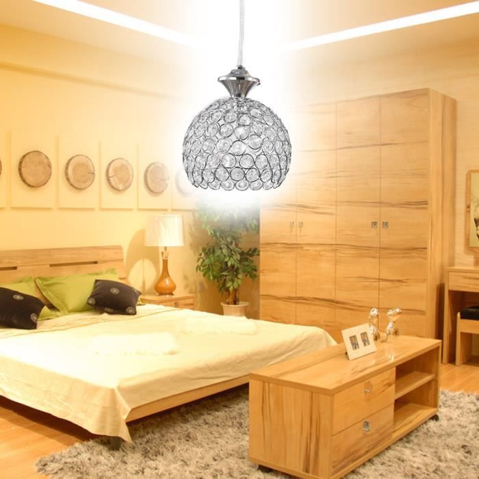 elinkume lustres de modern cristal 1 abat jour le l gant symbole de l 39 ternit pour salle. Black Bedroom Furniture Sets. Home Design Ideas