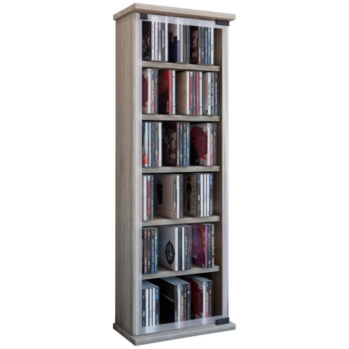 classic tour rangement biblioth que cd dvd 150 cd ch ne achat vente biblioth que classic. Black Bedroom Furniture Sets. Home Design Ideas