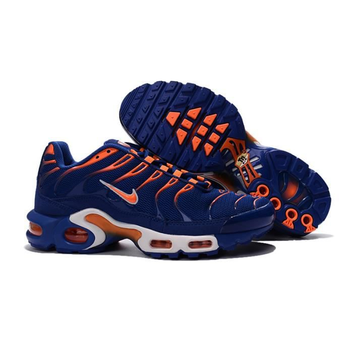 Nike Air Max Plus TN Orange et Bleu - Achat / Vente basket ...