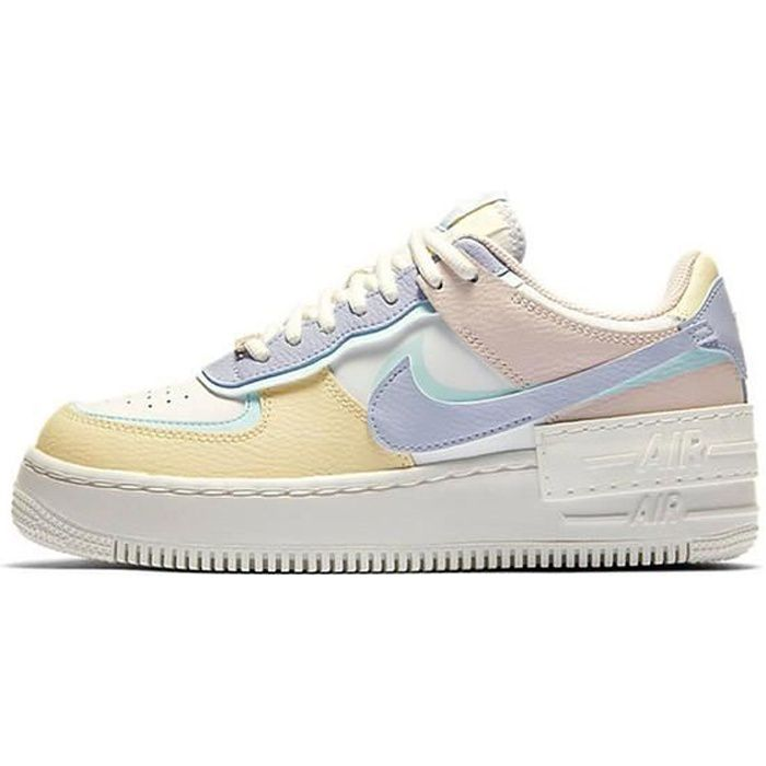 Nike Air Force 1 Shadow Chaussures Baskets pour Femme Jaune ...