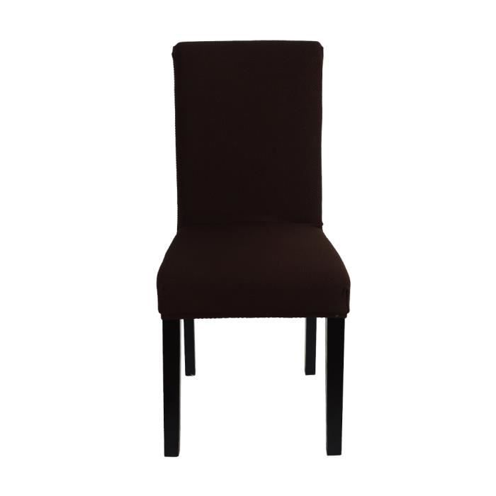 couverture de chaise housse de fauteuil de haute qualit douce en polyester et spandex brun. Black Bedroom Furniture Sets. Home Design Ideas