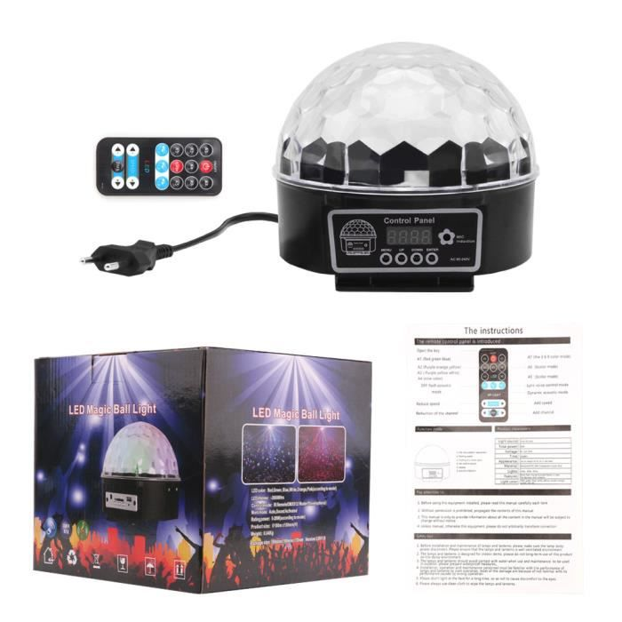 Party Voice Light Ball Stage Rotating Mirror 9 Led Lumière Show Télécommande Rgb Projecteur Color Disco De Crystal Magic 30w Club Yw0WTqgxnp