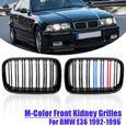 POUR BMW e46 3er M Reins Calandre Grill Noir Berline Touring Facelift