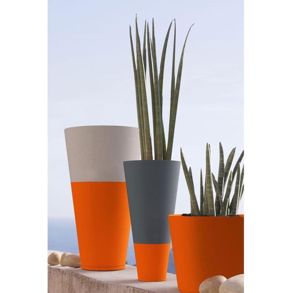 Gros Pot Fleur Plastique pot de fleur exterieur design