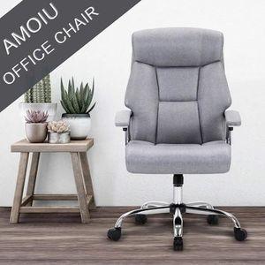 CHAISE DE BUREAU AMOIU Fauteuil de Bureau - Chaise de bureau en Lin