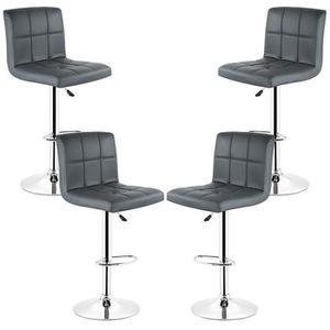 TABOURET DE BAR Tabouret de bar Lot de 4 chaise de bar, Pivotant e