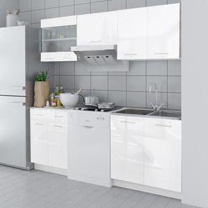 CUISINE COMPLÈTE P178 Set de 5 meubles de cuisine blanc brillant 20