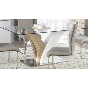 TABLE À MANGER SEULE TABLE A MANGER DESIGN RECTANGULAIRE - L : 160 CM X