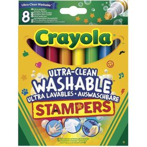 JEU DE COLORIAGE - DESSIN - POCHOIR Crayola - 8 Mini Stampers Emoticones ultra-lavable