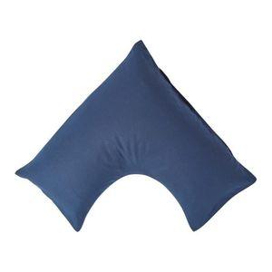 TAIE D'OREILLER Taie d'oreiller orthopédique en lin lavé Bleu mari