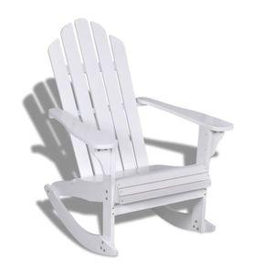 Ensemble table et chaise de jardin Fauteuil à bascule en bois chaise Blanc détendu Sa