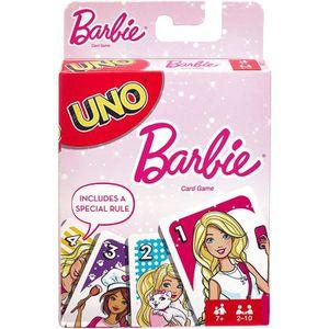 JEU SOCIÉTÉ - PLATEAU Mattel Spiele FMP71 UNO Barbie Jeu de cartes Multi