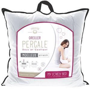 OREILLER My Lovely Bed - Oreiller Percale 100% Coton | 60x6