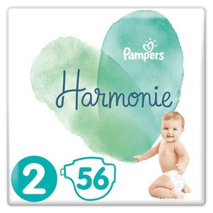 COUCHE PAMPERS Harmonie Taille2, 4-8kg, 56Couches