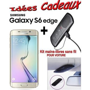 SMARTPHONE GALAXY S6 EDGE SAMSUNG OR 32 Go + KIT VITURE BLUET