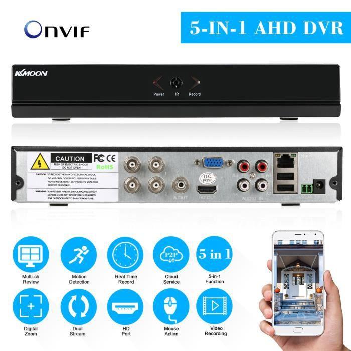 4 canaux canal vidéo CCTV enregistreur 1080p hybride NVR AHD TVI CVI DVR P2P 5-en-1 nuage réseau Onvif Support Plug-and-Play Phone A
