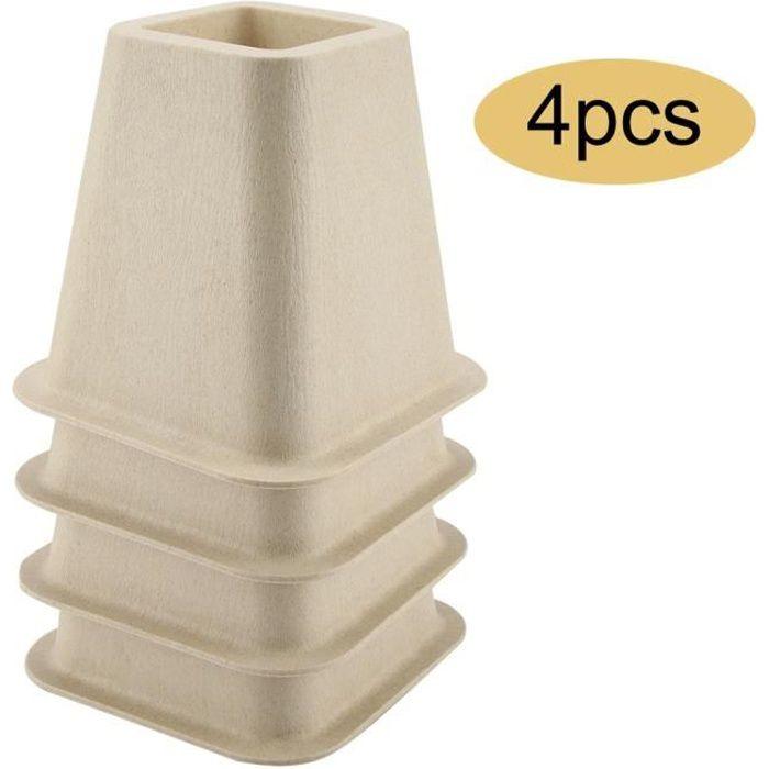 4Pcs Rehausseur Pieds de lit Réhausseur de meuble Lit / Table Set Rehausseur meuble ELEVATEUR en porcelaine artificielle -SWT