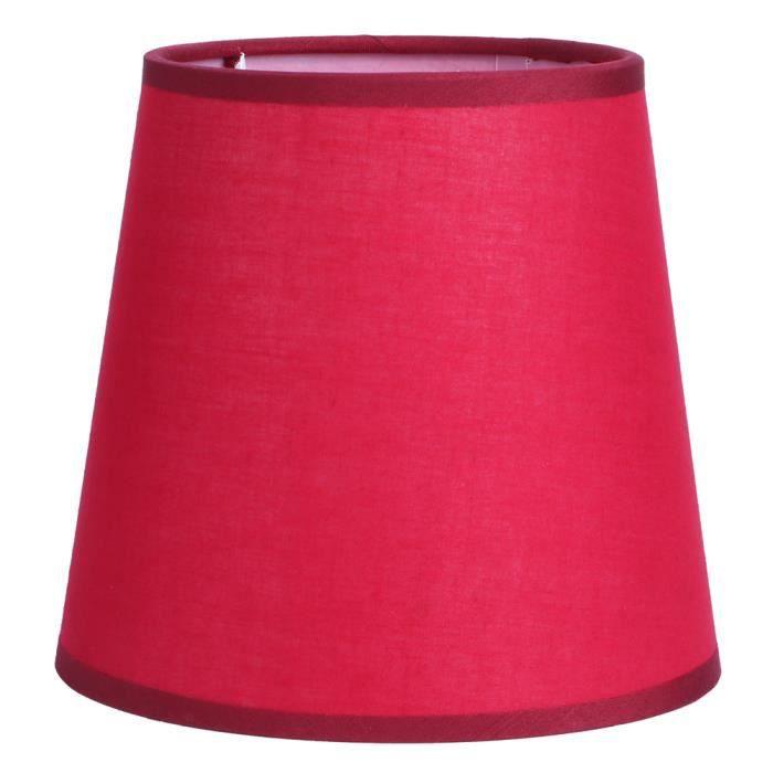 E14 Abat-jour lustre en tissu pur couleur pour applique murale chevet housse pour lampe de table(Rouge)-MAD