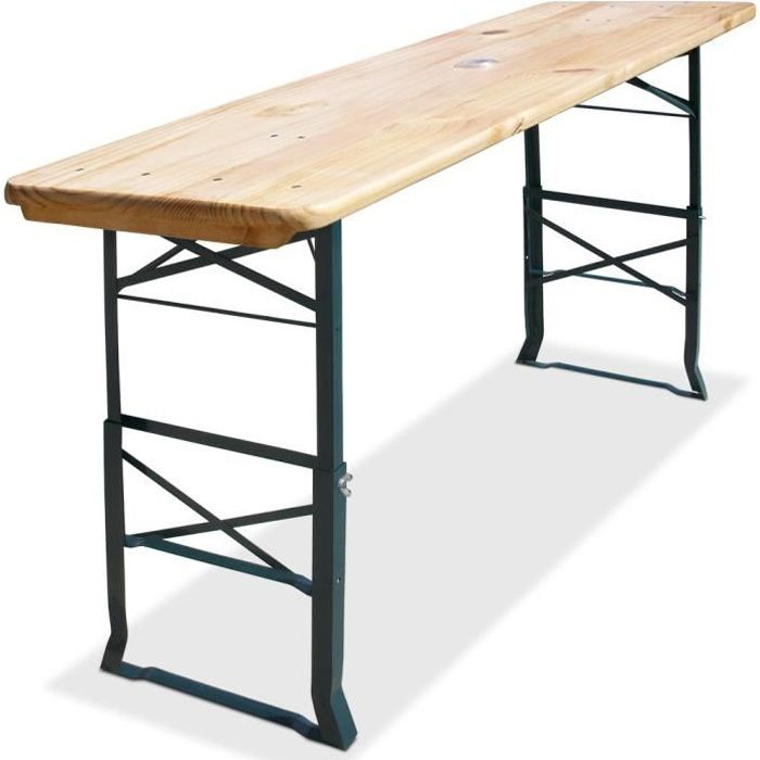 Table haute pliable - Hauteur réglable 170cm - Table de bar Emplacement parasol