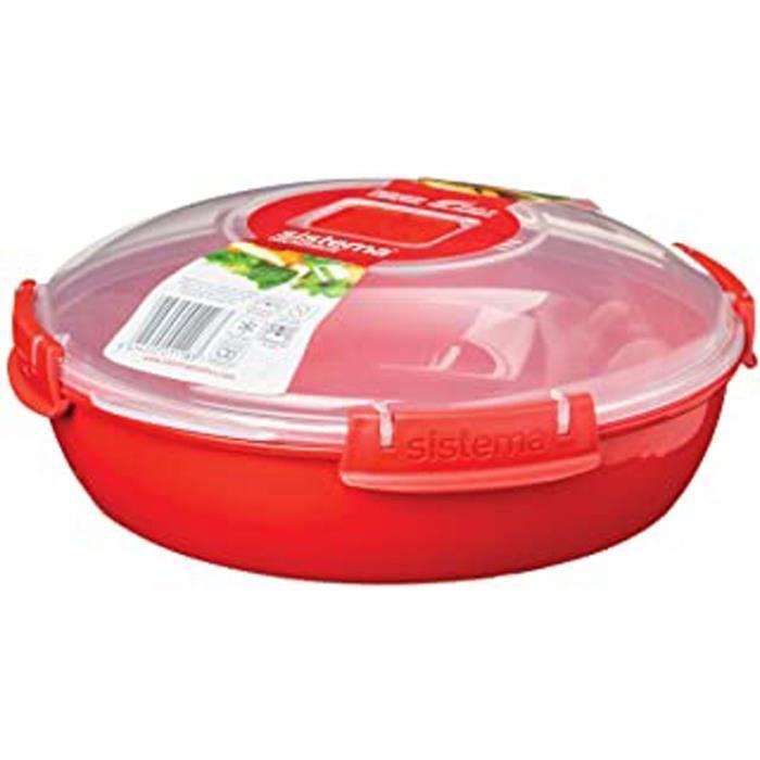 Si1118 Micro-Ondes Plaque Ronde Plastique Rouge 45 X 35 X 25 Cm 1,3 L