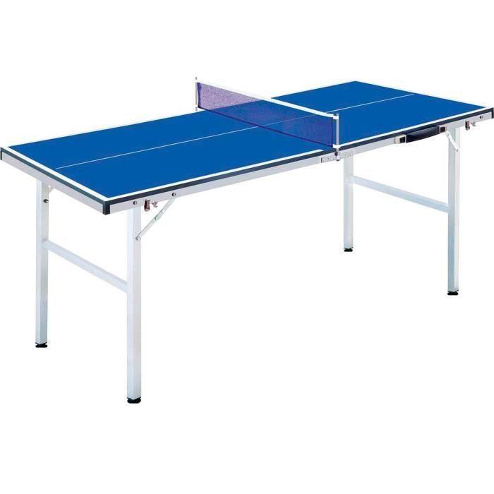 Fox TT table de ping-pong mini 150 cm bois/acier bleu 6-pièces