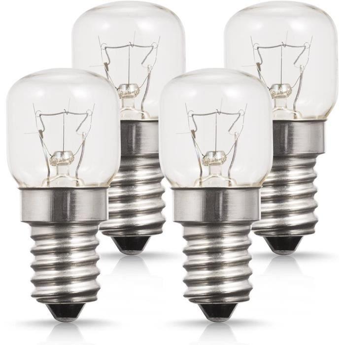 Lot de 4 Lumière Du Four, Petit culot à vis E14 Base, 25W Ampoule Halogène, Blanc Chaud 2700K, 200 Lumen, Non Dimmable, Résistant ju