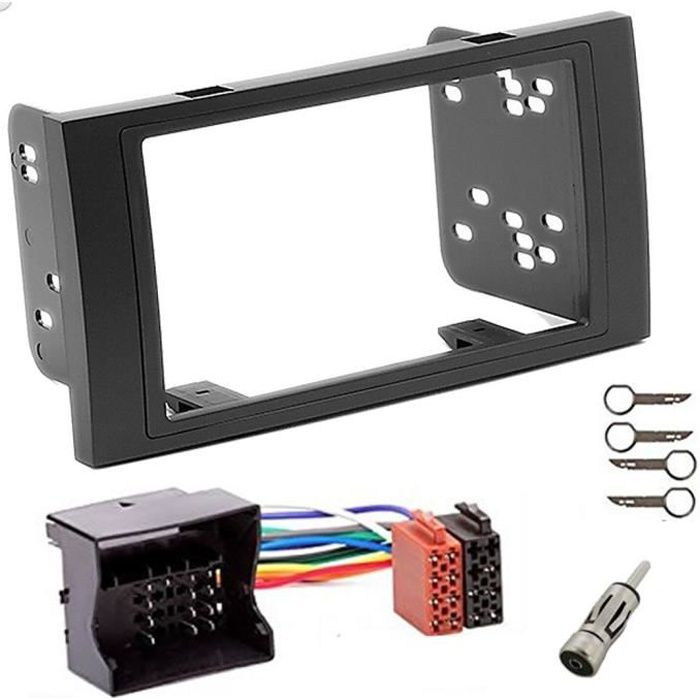 Kit montage autoradio 2 DIN avec supports pour FORD Focus C-max S-max Transit Fiesta galaxy Kuga