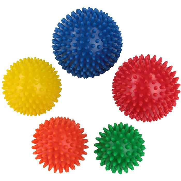 Accessoires de massage manuel BB Sport balles de Massage avec différentes duretés et Tailles Set de 5 Boules de Massage 178777