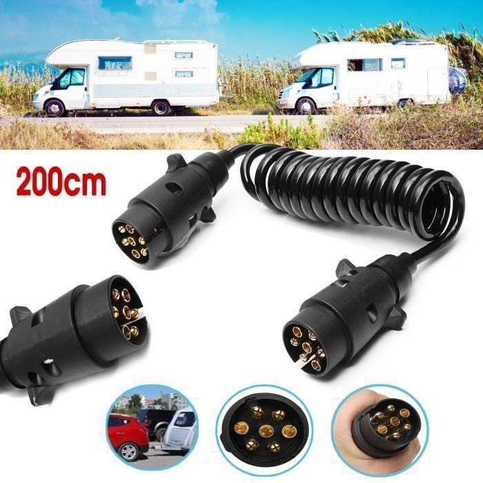 BO 1x 7-Pin Câble d'Extension de Remorque Prise de Camion Remorque 2-Mètres
