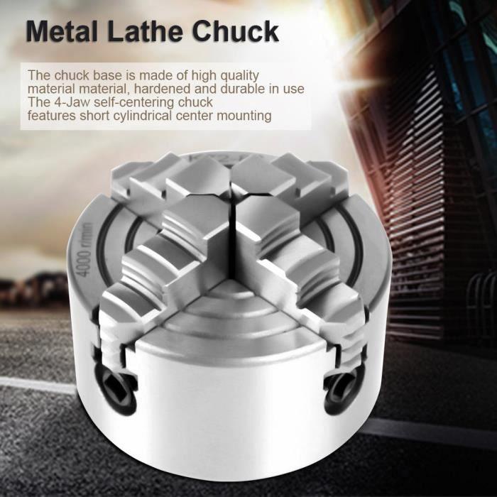 Atyhao mandrin de tour à métal 3 pouces K72-80 4 mâchoires indépendantes et réversibles mâchoire de tour en métal mandrin de