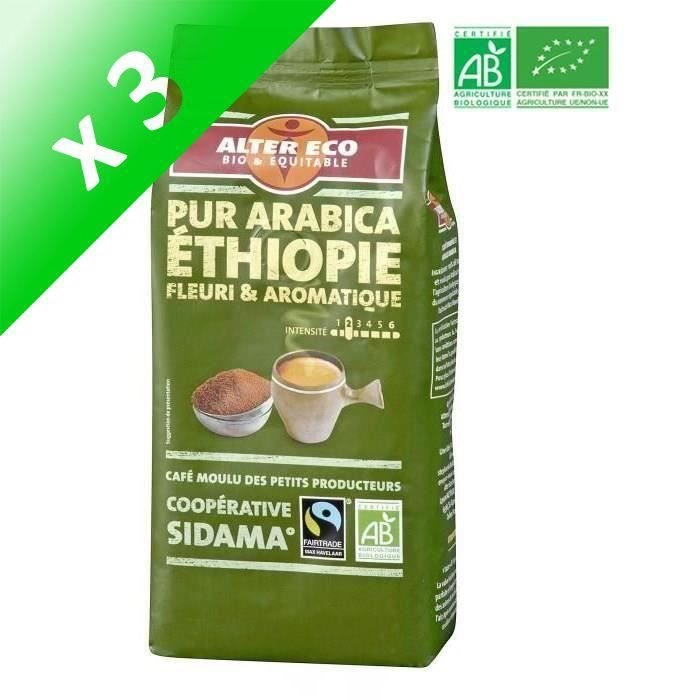[LOT DE 3] ALTER ECO Café Ethiopie 100% Arabica Bio 260g