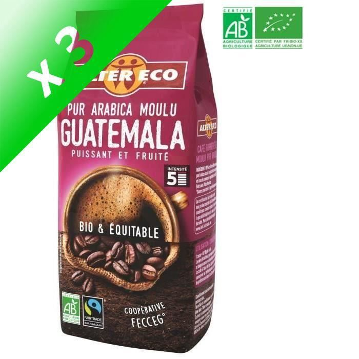 [LOT DE 3] ALTER ECO Café Guatemala - 100% Arabica - Bio - 260 g