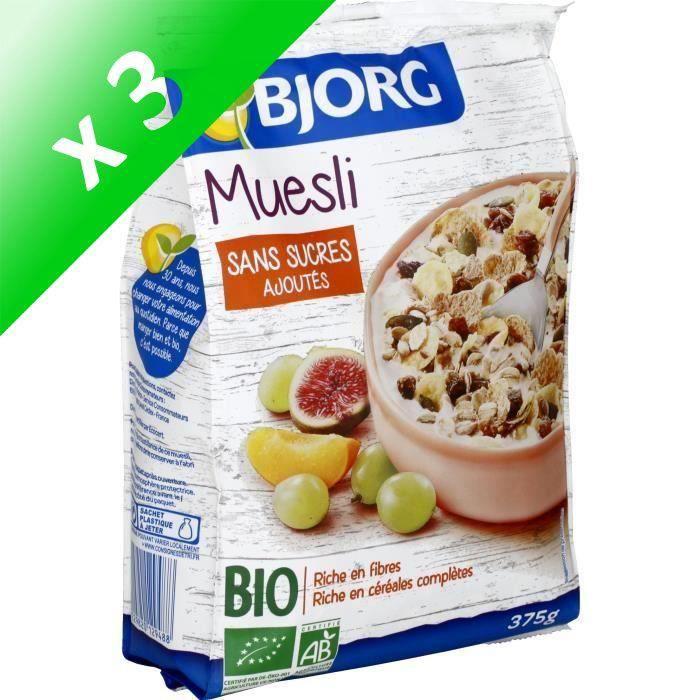 [LOT DE 3] Muesli bio 375 g Bjorg