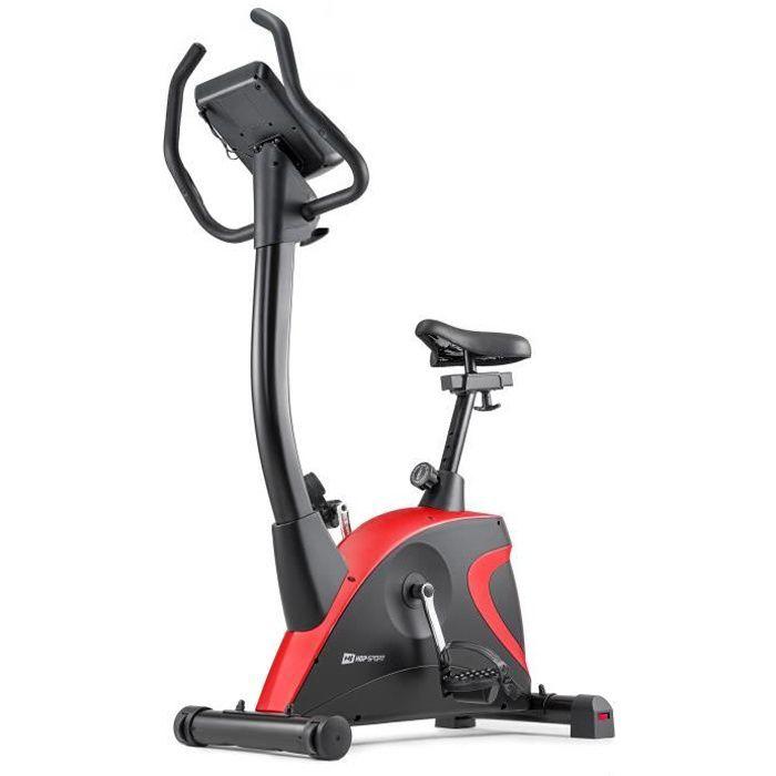 HS HOP-SPORT Vélo d'appartement HS-005H Host (Rouge) - Réglage de la résistance - Ordinateur - Ergomètre - Jusqu'à 120 kg