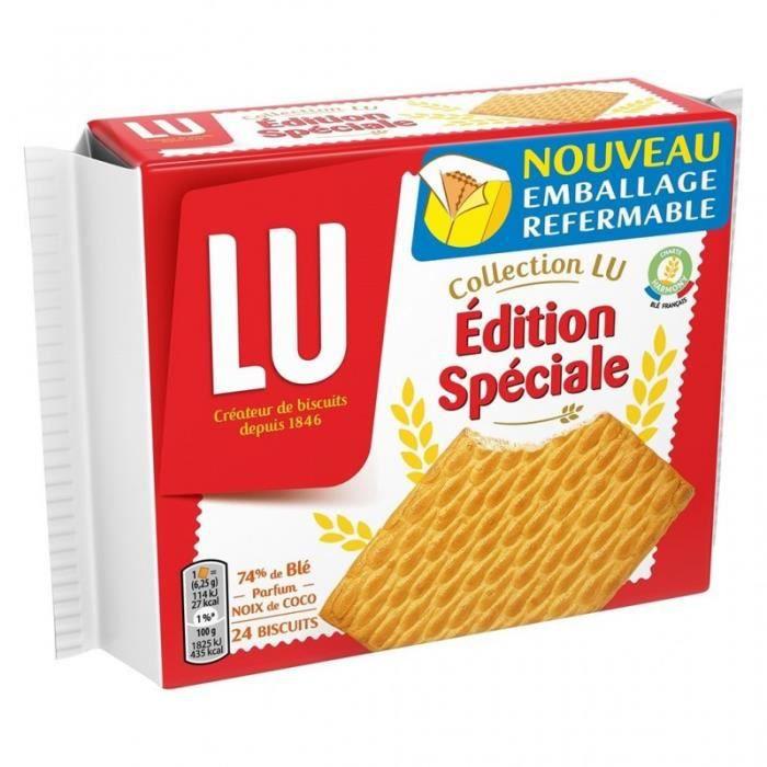 LU Collection LU Édition Spéciale 74% de Blé Parfum Noix de Coco 150g (lot de 6)