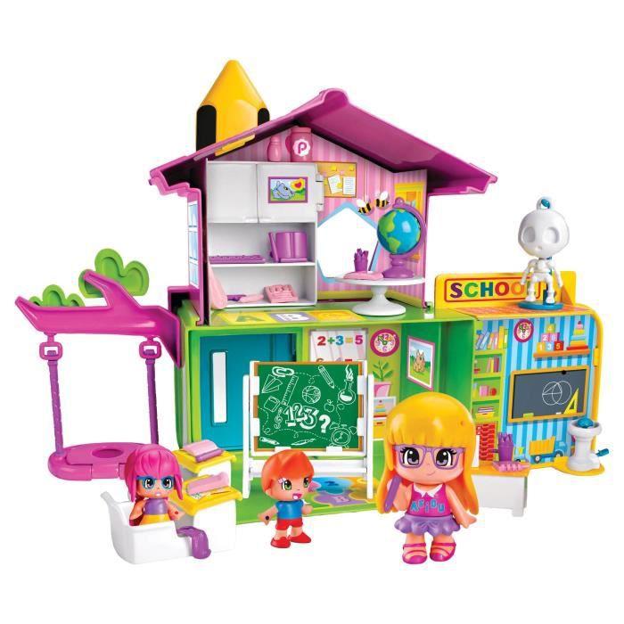 Pinypon - L'Ecole Pinypon et 3 figurines - accessoires inclus